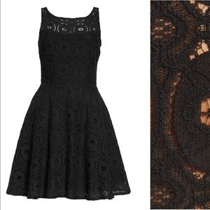 BB Dakota Renley Lace Fit and Flare Dress
